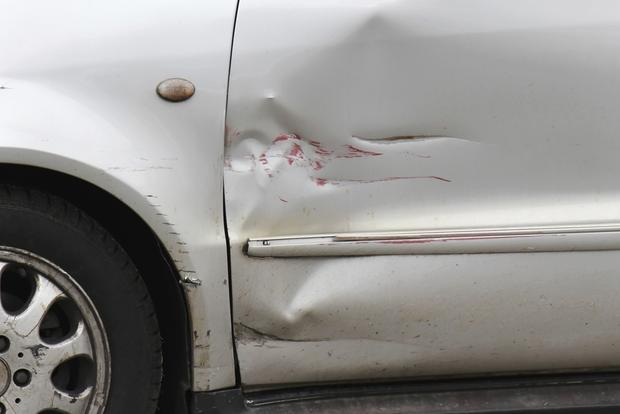 Dents and scrapes show through