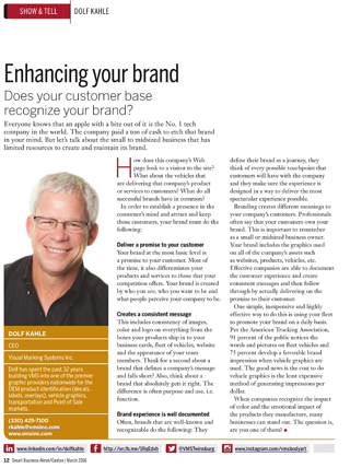 Enhancing Your Brand Article